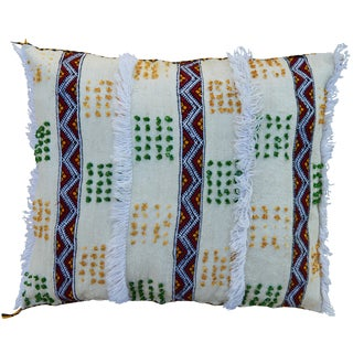 Moroccan Berber Pillow WithStripes For Sale