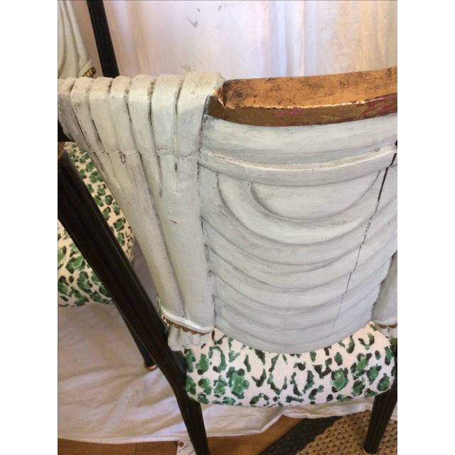 Green Hollywood Regency Trompe-L'œil Side Chairs - A Pair For Sale - Image 8 of 12