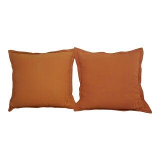 Ralph Lauren Monogrammed Tweed Pillows - a Pair