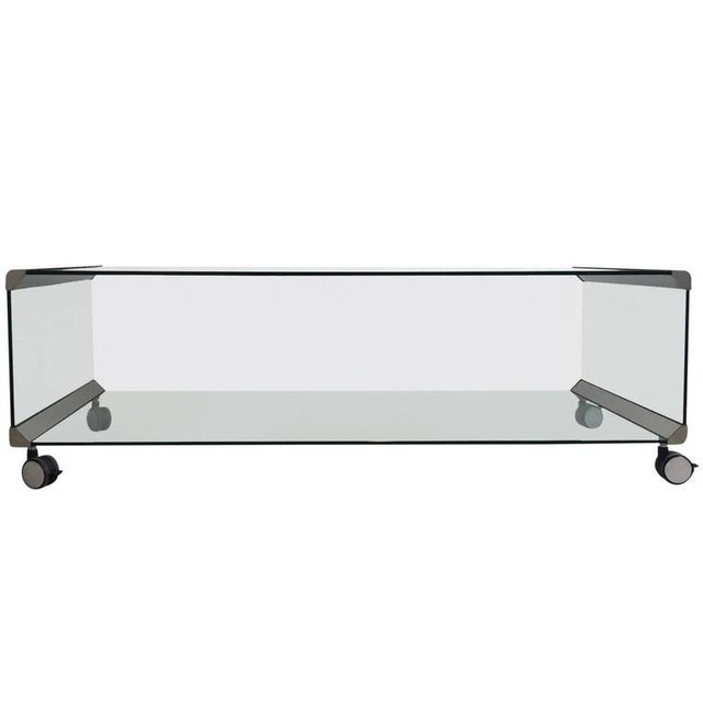 Chrome and Glass Coffee Table, by Pierangelo Galotti for Galotti & Radice, 1975 - Image 7 of 7