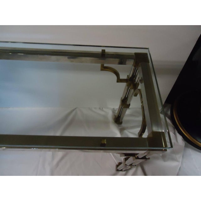 Mid Century Modern Mixed Metal Console - Image 3 of 5