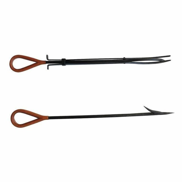 Jacques Adnet Style Fireplace Tools For Sale In Los Angeles - Image 6 of 11