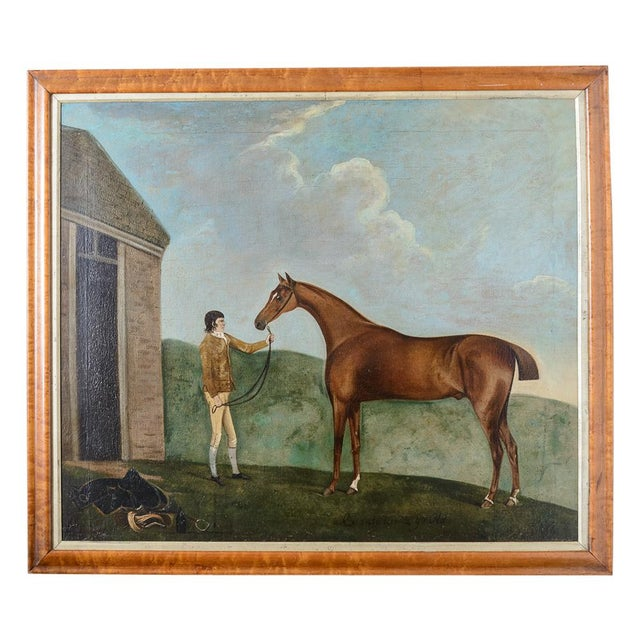 Canvas Francis Santorius Horse Painting For Sale - Image 7 of 7