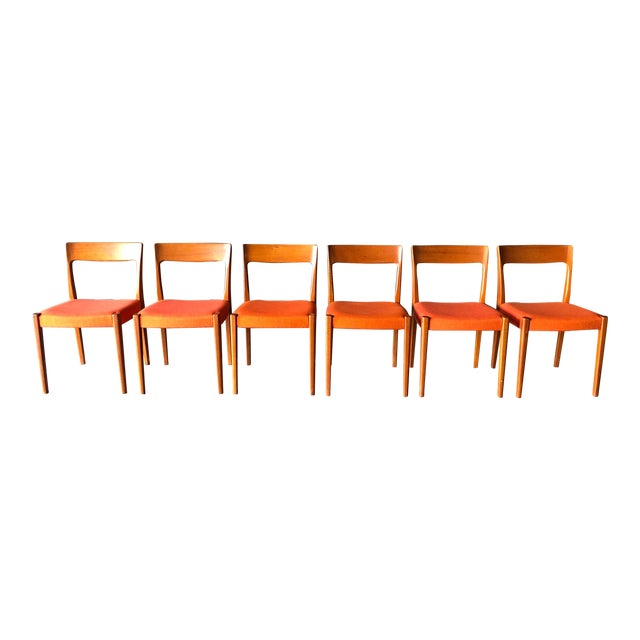 Swedish Teak Dining Chairs For Sale