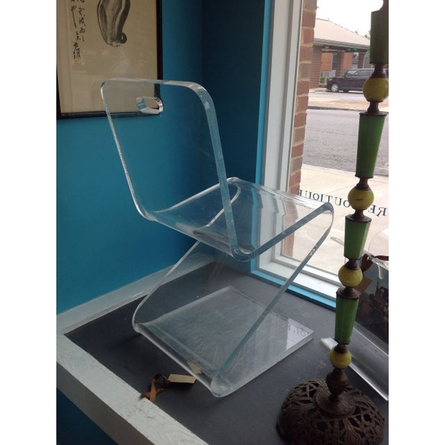 Vintage Lucite Z Chair - Image 5 of 6