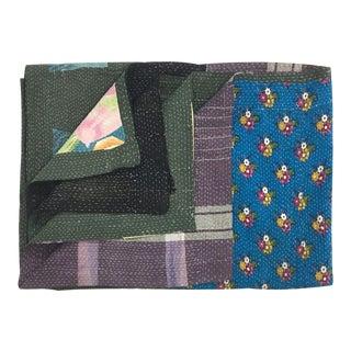 Patchy Vintage Kantha Quilt For Sale