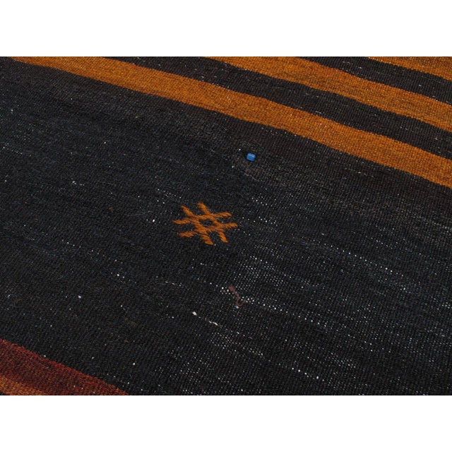 1950s Two-Panel Kilim with Stripes For Sale - Image 5 of 9