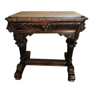 19th Century French Renaissance Dolphin Table Desk For Sale