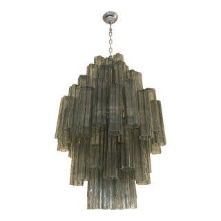 """Chandelier Italian Doubble Sputnik Murano Glass """"Tronchi"""" Chandelier For Sale"""