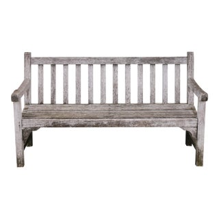 1990s Solid Teak Kingsley Teak Bench For Sale