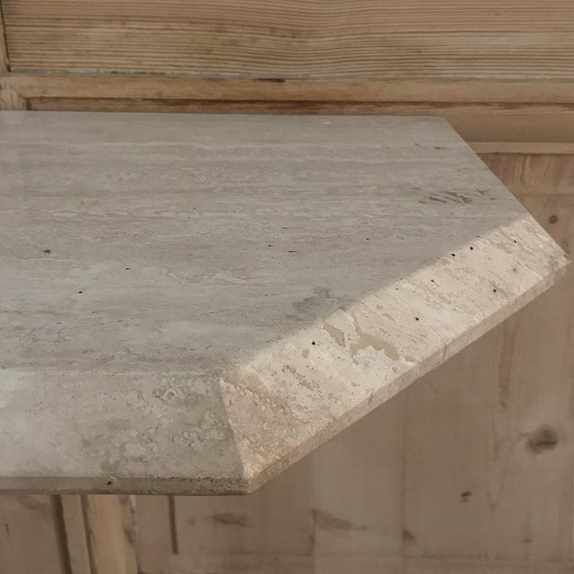 Mid-Century Limestone ~ Travertine Console For Sale - Image 11 of 12