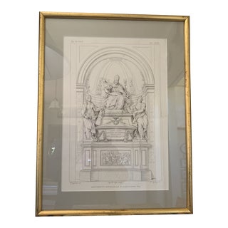 19th C Italian Engraving of Pope Alessandro VIII For Sale