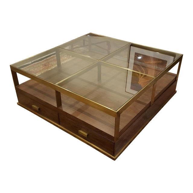 Compton Glass Walnut Coffee Table Chairish