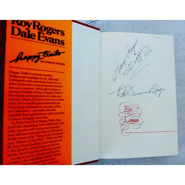 """Roy Rogers and Dale Evans' """"Happy Trails"""" 1979 Book, Signed - Image 3 of 10"""