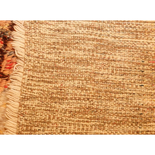 Textile Leena Kaisa Designed Vintage Scandinavian Rya Rug - 3′5″ × 5′1″ For Sale - Image 7 of 10