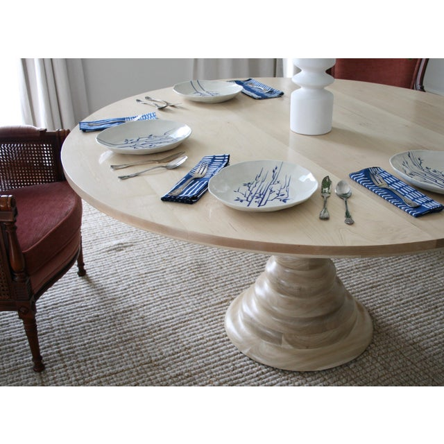 Wood Modern Amelia Round Wooden Dining Table For Sale - Image 7 of 8