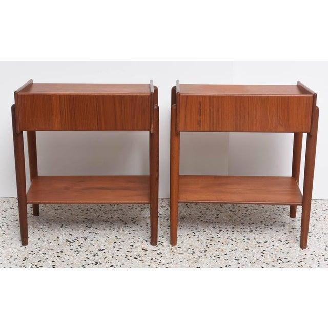 1960s Danish Teak Side Tables by Borge Mogensen for Soberg Moblefabrik - a Pair For Sale - Image 9 of 11