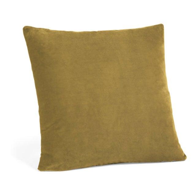 Mustard Velvet Down Pillow - Image 2 of 3