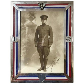 Us Military Sterling Eagle Motif Frame, Wwi Era, by Theodore B. Starr For Sale