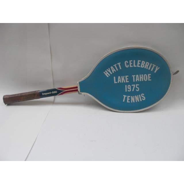 Traditional Vintage Spaulding Tennis Racquet With Vinyl Cover For Sale - Image 3 of 4
