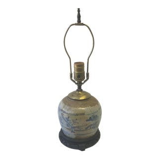 Antique Chinese Ginger Jar Lamp For Sale