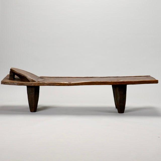 Ivory Coast Dark Wood Senufo Bench - Image 3 of 11