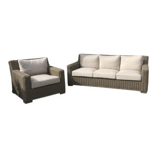 Summer Classics Outdoor Sofa & Chair- 2 Pieces For Sale