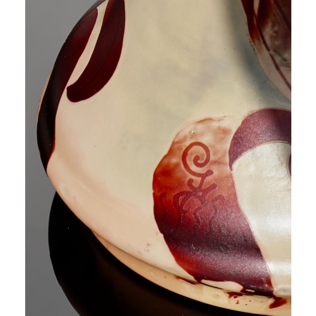 Monumental Emile Galle Tiger Lily Cameo Vase For Sale In Dallas - Image 6 of 9