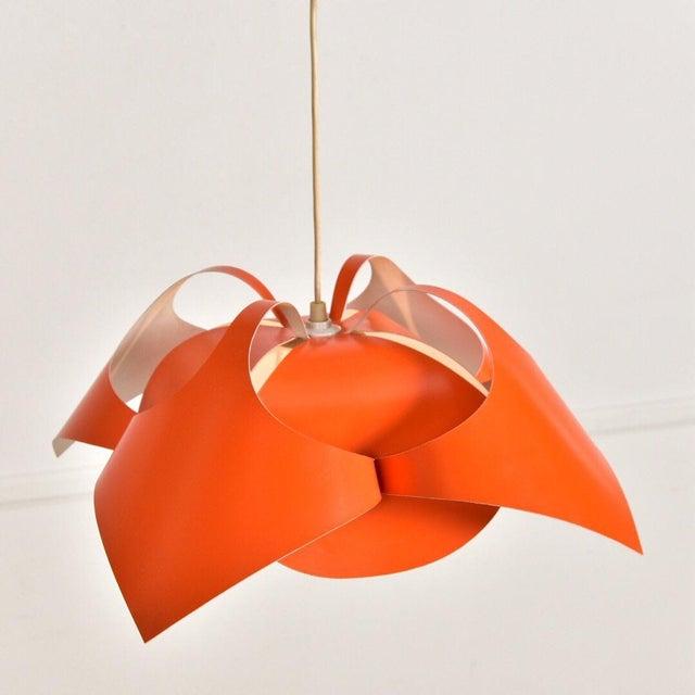 Verner Panton Verner Panton Orange Lamp For Sale - Image 4 of 7