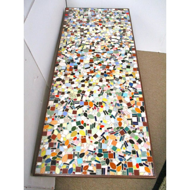 1960's Mosaic Tile Top Coffee Table - Image 4 of 6