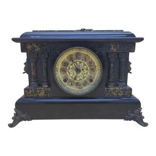 Antique Double Column Seth Thomas Mantle Clock For Sale
