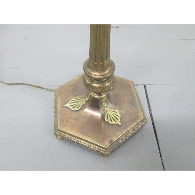 Neoclassical Style Bronze Floor Lamp - Image 4 of 4
