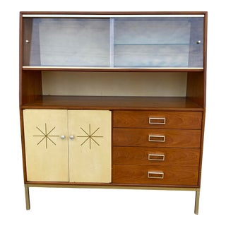 1950s Mid Century Kipp Stewart for Drexel Suncoast China Cabinet For Sale