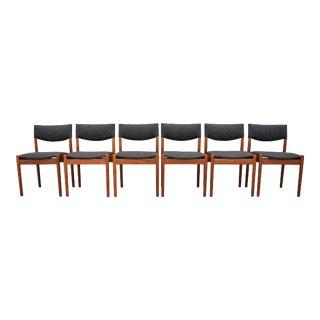 Vintage Danish Modern Teak Dining Chairs - Set of 6