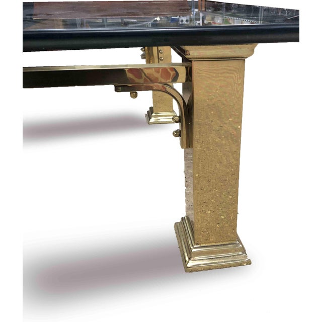 1960s Art Deco Style Solid Brass Coffee Table For Sale - Image 4 of 7