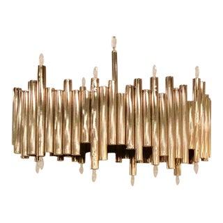 Regina Andrew Modern Chrome Metal Pipe Chandelier For Sale
