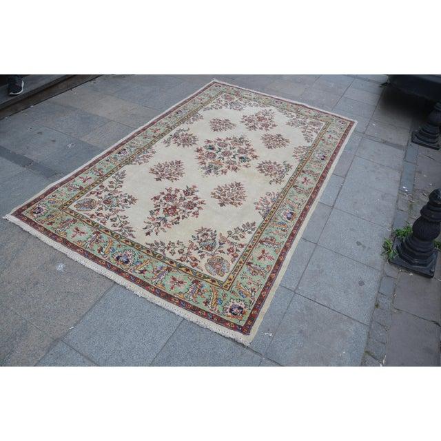 Islamic Vintage Turkish Pastel Rug - 5′4″ × 8′11″ For Sale - Image 3 of 6