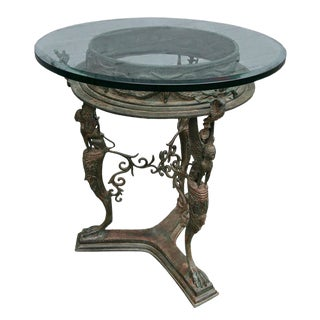 French Imperial Bronze Side Table For Sale