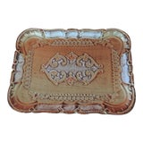 Image of Vintage Florentine Gold Hand Painted Mail Tray For Sale