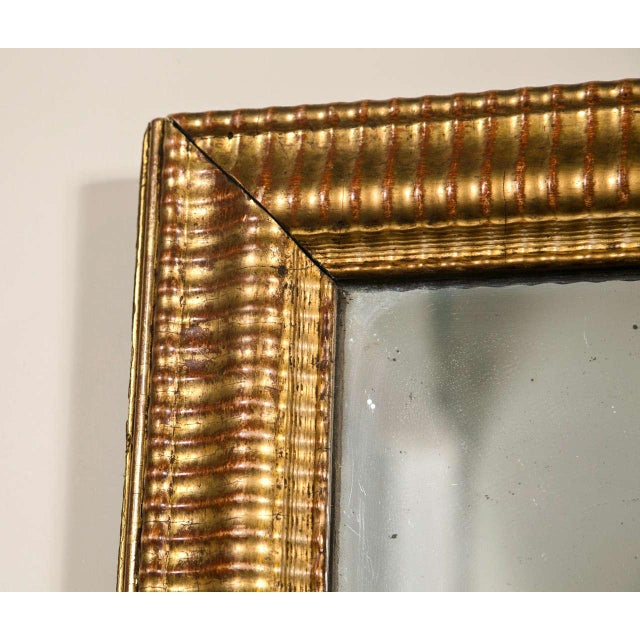 Gilt Gold Fluted Border Mirror - Image 2 of 4