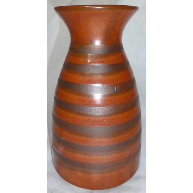 Beautiful Otagiri pottery vase, dating circa 1960. The company was an importer and a distributor of porcelain, stoneware,...
