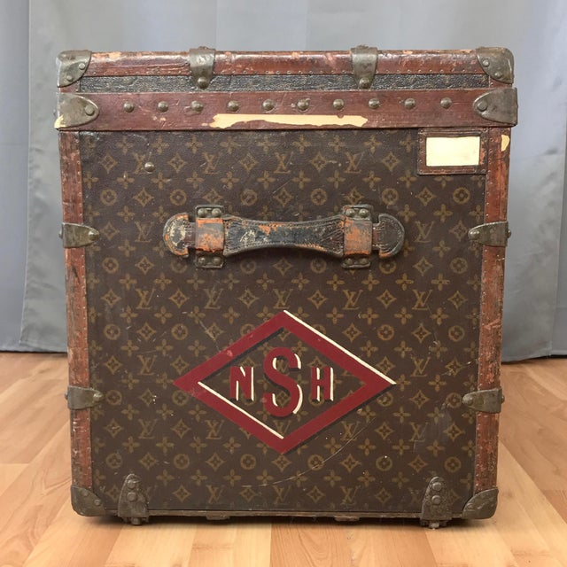 1950s Louis Vuitton Monogram Lady's Steamer Trunk For Sale In San Francisco - Image 6 of 13