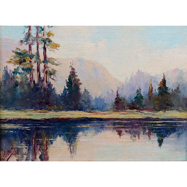 Jules Bernard Dahlager -View of Short Bay in Ketchikan Alaska C.1940- Impressionist Oil Painting For Sale - Image 4 of 9