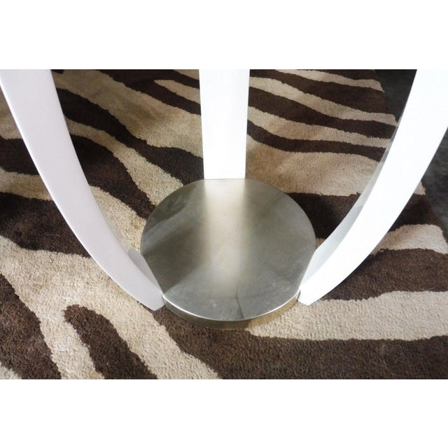 Contemporary Vintage Sally Sirkin Lewis for J. Robert Scott Harlow Side Table For Sale - Image 3 of 10
