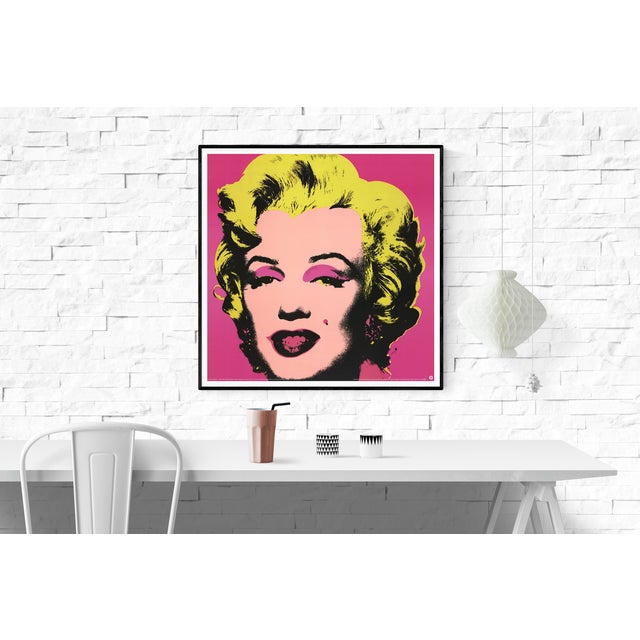 Pop Art 1999 Small Marilyn Pink Poster by Andy Warhol For Sale - Image 3 of 4