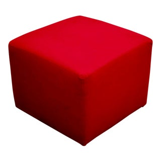 Red Cube Ottoman For Sale