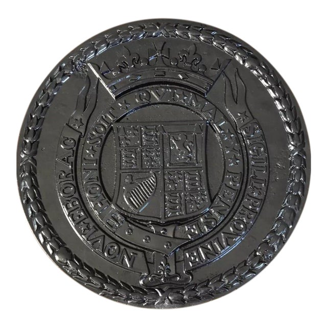 Cast Iron Urban Americana West Side Highway Roundel Medallion Seal For Sale