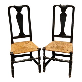 1740s Connecticut Queen Anne Side Chairs - a Pair For Sale