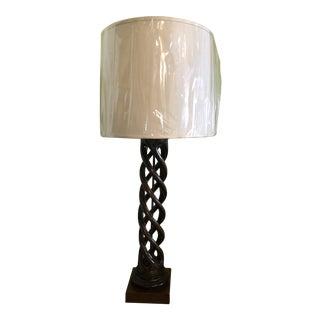 Antique Barley Twist Lamp For Sale