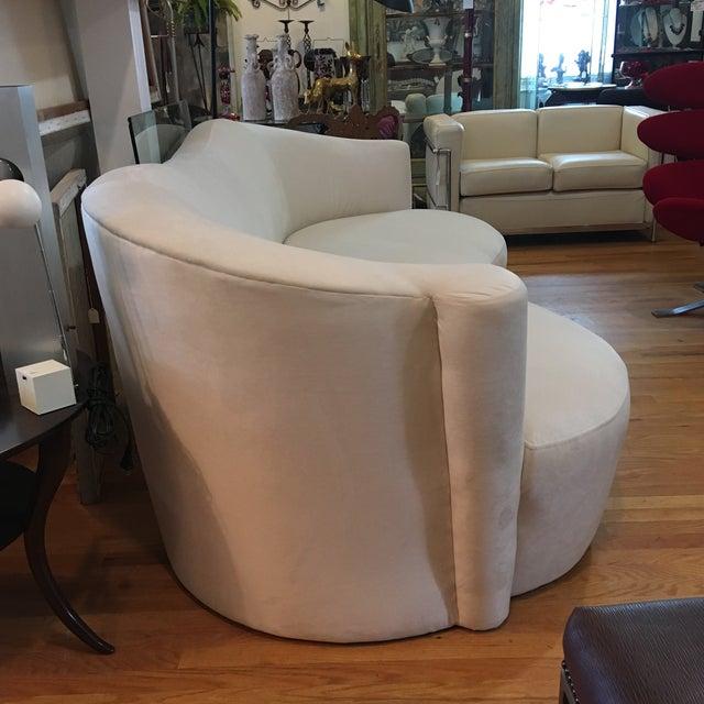 1980s 1980s Modern Vladimir Kagan Style Sofa For Sale - Image 5 of 7